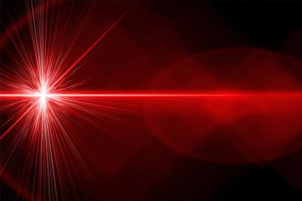 Red bright laser beam